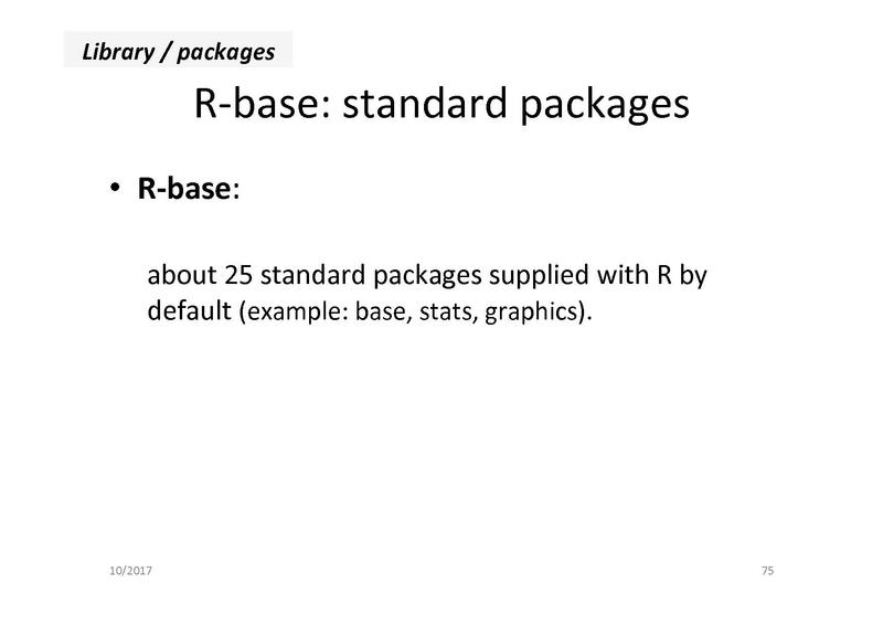 File:171004 Introduction to R day2 pdf - Bioinformatics Core Wiki